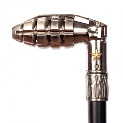 CANNE de marche à système pommeau grenade - 94 cm
