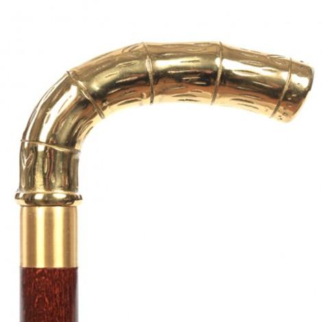 CANNE de marche à système fiole pommeau roseau - 89 cm