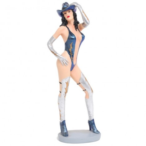 STATUE pin-up cow-boy - 36 - cm