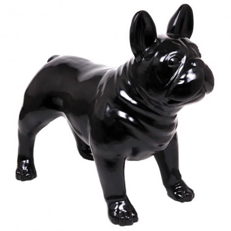 Statue CHIEN bouledogue Français noir - 90 cm