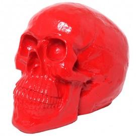 Statue tête de mort rouge - 50 cm