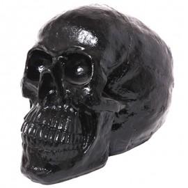 Statue tête de mort noire - 50 cm
