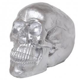 Statue tête de mort argent  - 50 cm