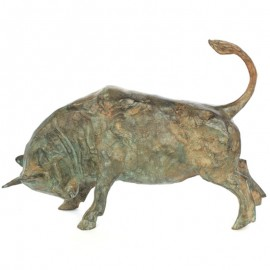 Statue TAUREAU en bronze - 40 cm