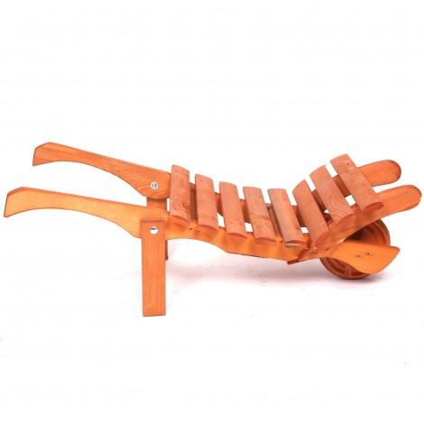 Brouette jardinière porte-pots en bois longueur - 84 cm