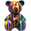 Statue Ours multicolore en résine Loulou - 35 cm