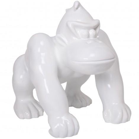 Statue en résine donkey kong gorille singe blanc - 70 cm