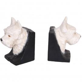 Serre-livres tête de chien scottish en fonte - 13.5 cm