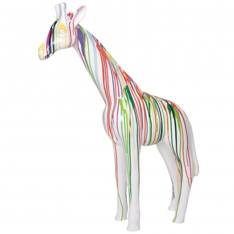Statue en résine girafe multicolore (Joséphine) - 110 cm