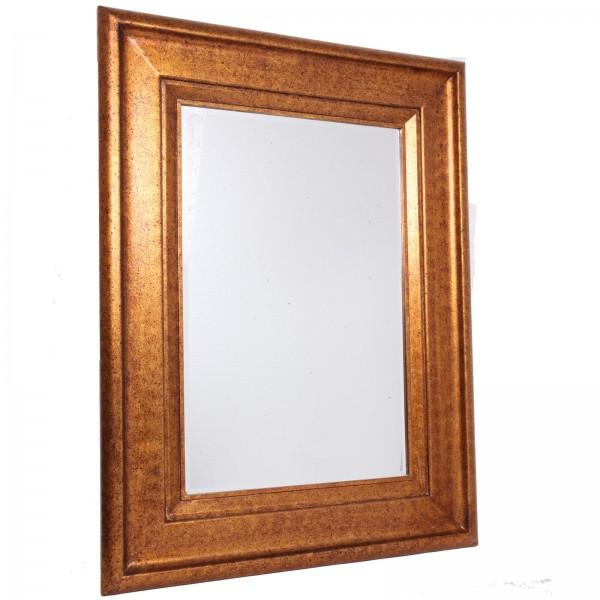 miroir mural biseaut en bois dor patine antique 127 cm. Black Bedroom Furniture Sets. Home Design Ideas