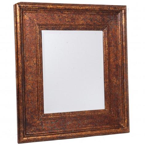 miroir mural biseaut en bois dor patine classique vintage 80 cm. Black Bedroom Furniture Sets. Home Design Ideas