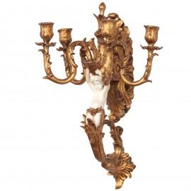 Bougeoir applique en résine statue ange candélabre torchère hauteur - 50 cm