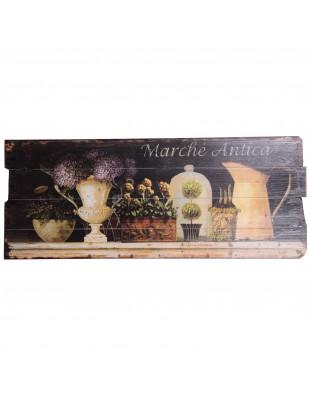 Tableau en bois (marché) - 100 cm