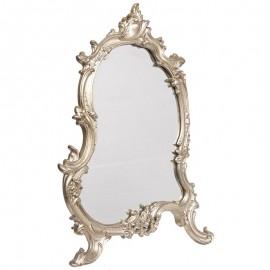 Miroir argenté à poser au à fixer de style louis XV - 56 cm