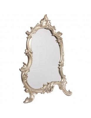 Miroir argenté à poser ou à fixer de style louis XV - 56 cm