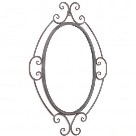 Miroir biseauté en fer - 74 cm