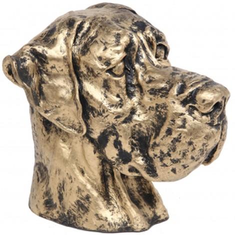 Statue chien tête de chien dogue allemand - 28 cm