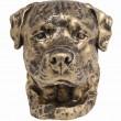 Statue tête de chien en résine Rottweiler - 32 cm