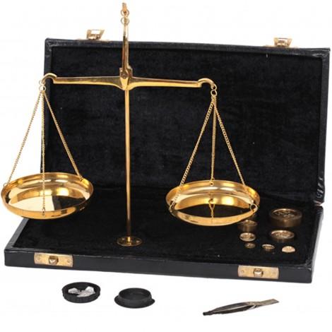 Balance trébuchet coffret noir moyen modèle - 21 cm