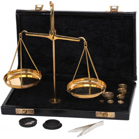 Balance trébuchet coffret noir petit modèle - 18.5 cm