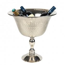 Rafraîchissoir deux bouteilles porte-bouteille en métal argenté sceau a champagne vin - 41 cm