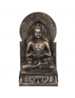 Statue bouddha couleur dorée position du lotus - 52 cm