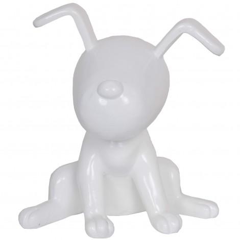 Statue chien Snoopy blanc en résine - 22 cm