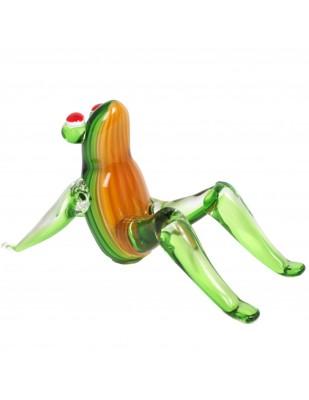 Statue de style Murano grenouille assise - 21 cm