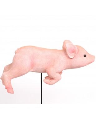 Statue cochon rose à planter (Marius) - 32 cm