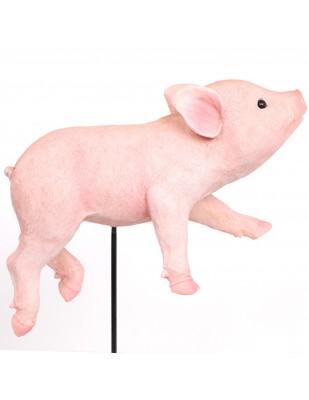 Statue cochon rose à planter (Alexandre) - 27 cm