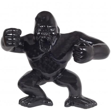 Statue en résine Donkey Kong gorille singe debout noir (Richard) - 80 cm