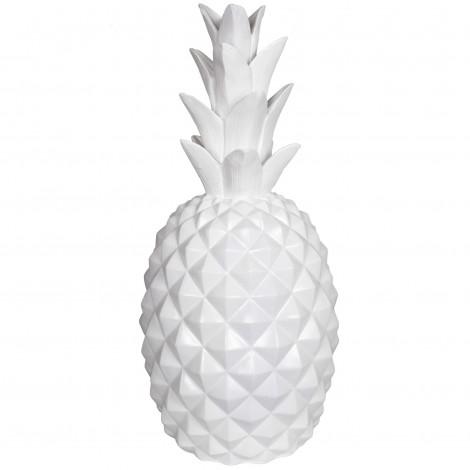 Statue ananas blanc en résine - 65 cm