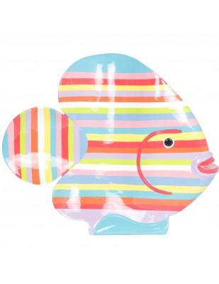 Statue en résine poisson multicolore (Sara)  - 63 cm