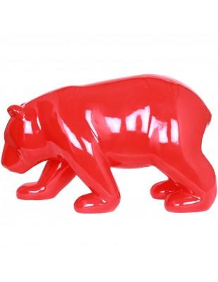 Statue en résine ours rouge Gabriel - 85 cm