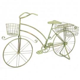 Jardinière/ Porte plante/pot vélo/bicyclette en fer - 140 cm
