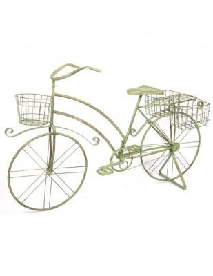 Jardinière vélo bicyclette en fer porte plante porte pot - 140 cm