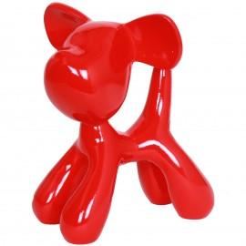 Statue chien Snoopy rouge en résine (Alex) - 28 cm