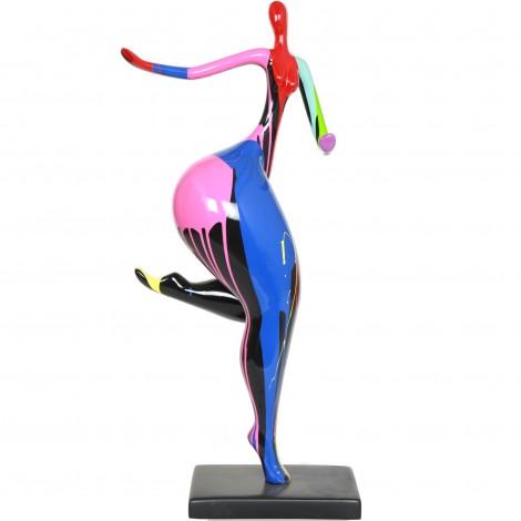 statue femme design moderne en r sine multicolore alexia 78 cm. Black Bedroom Furniture Sets. Home Design Ideas