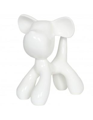 Statue chien Snoopy blanc en résine (Fred) - 28 cm