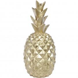 Statue ananas doré en résine - 65 cm