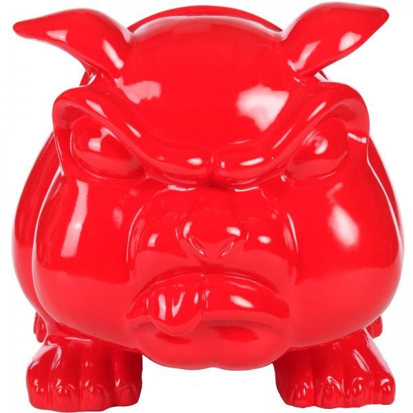 statue en r sine chien bouledogue anglais rouge 77 cm. Black Bedroom Furniture Sets. Home Design Ideas