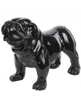 Statue en résine chien bouledogue anglais noir (Marco) - 58 cm