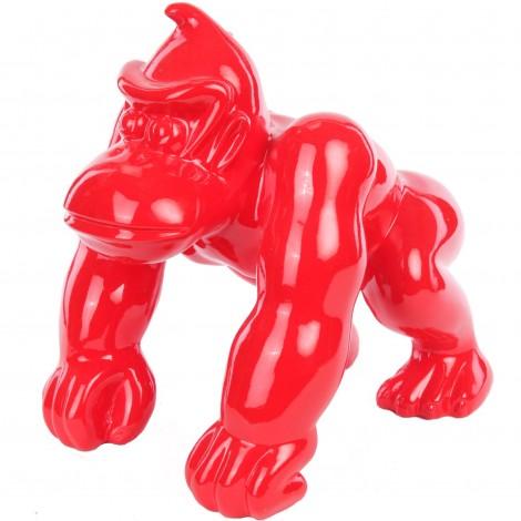 Statue en résine Donkey Kong gorille singe rouge (Nestor) - 37 cm