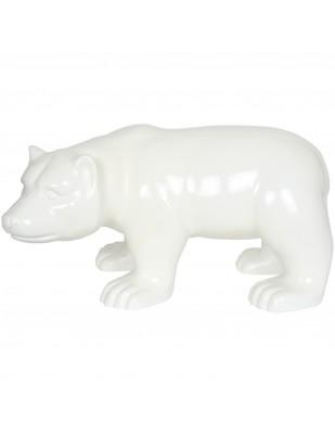 Statue en résine ours blanc (Bakou) - 52 cm