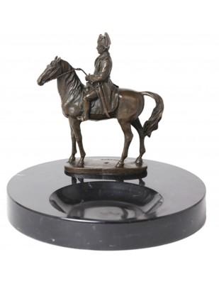 Statue en bronze cendrier napoléon à cheval - 20 cm