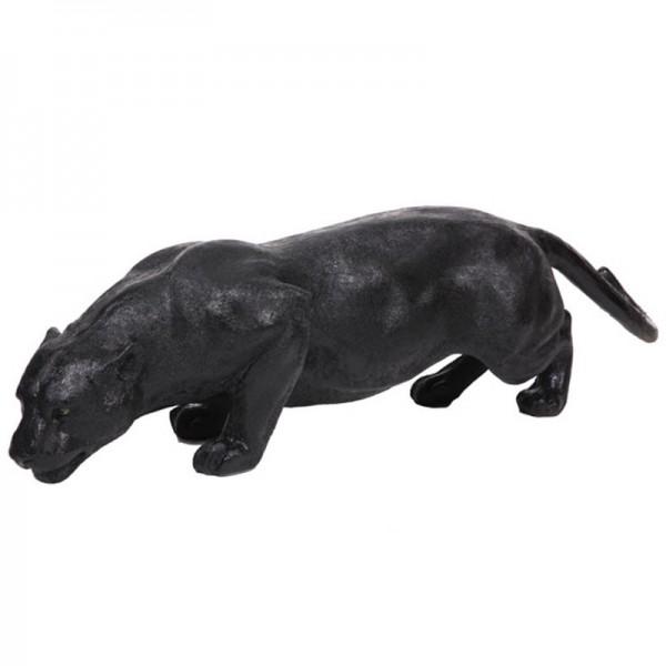 statue de d coration en r sine panth re noire 135 cm. Black Bedroom Furniture Sets. Home Design Ideas