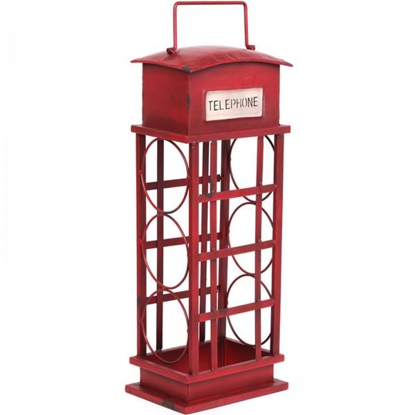 Porte bouteille cave vin fer cabine t l phonique anglaise 55 cm - Meuble cabine telephonique anglaise ...