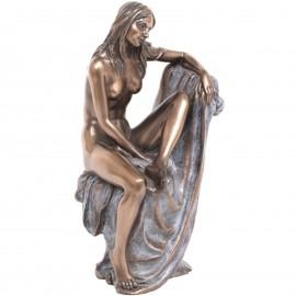 Statue érotique femme nue en résine (Catherine) - 18.5 cm