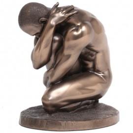 Statue érotique homme nu en résine (Luc) - 12 cm