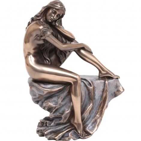 Statue érotique femme nue en résine (Léna) - 18 cm